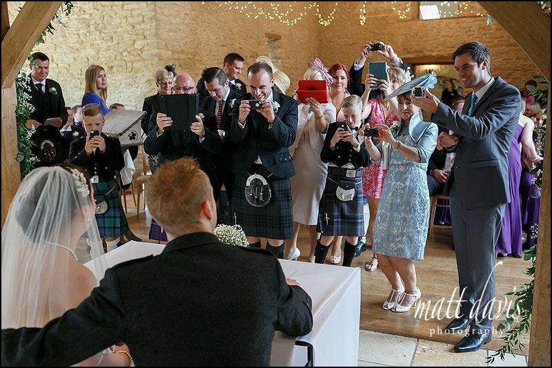Documentary wedding photos at Kingscote Barn