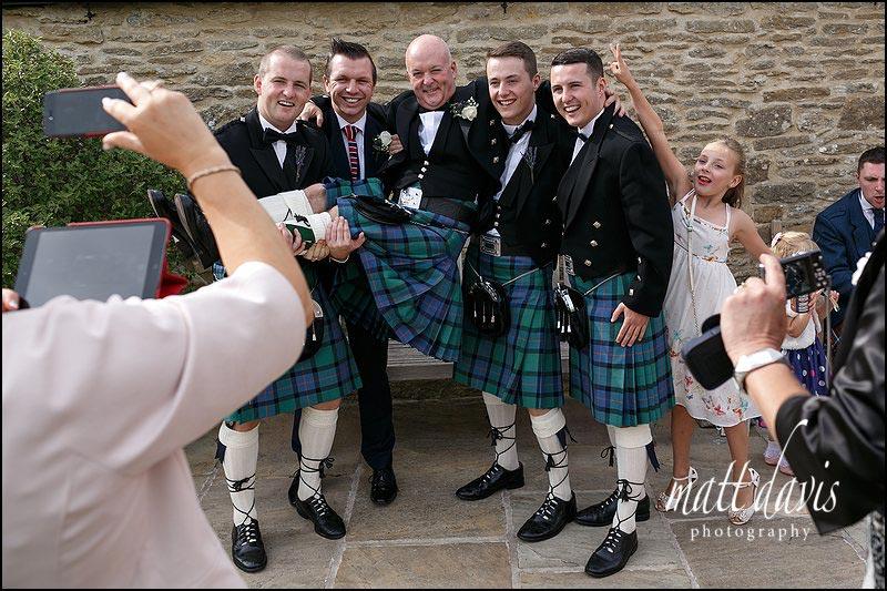 Natural documentary wedding photos at Kingscote Barn