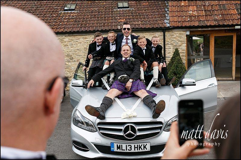 Fun weddings at Kingscote Barn