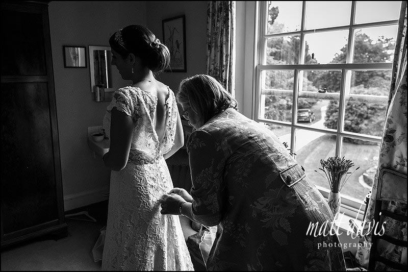 Black and white wedding photography in the Cotswolds