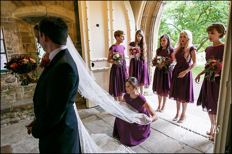 Short bridesmaid dresses in purple