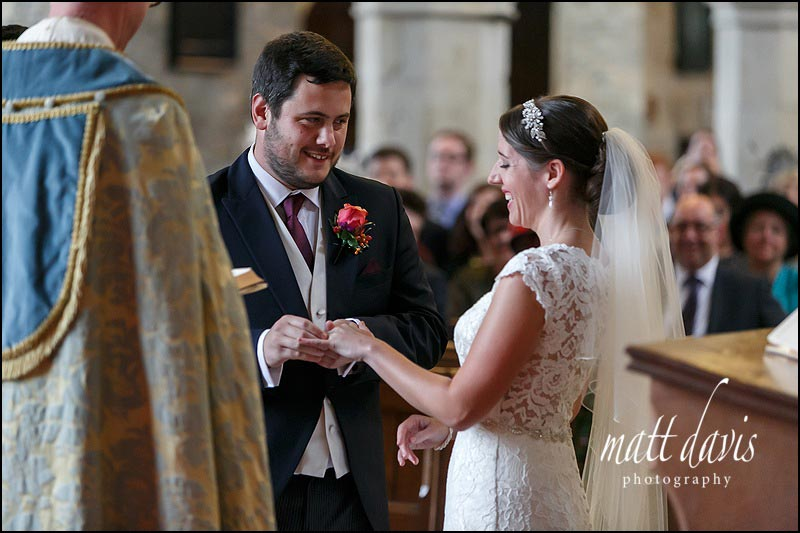 A quintessentially English wedding at St George's church in Oxfordshire