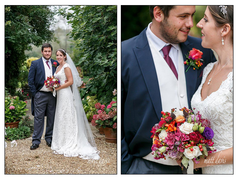 Stunning couple portraits taken at a wedding in the Cotswolds
