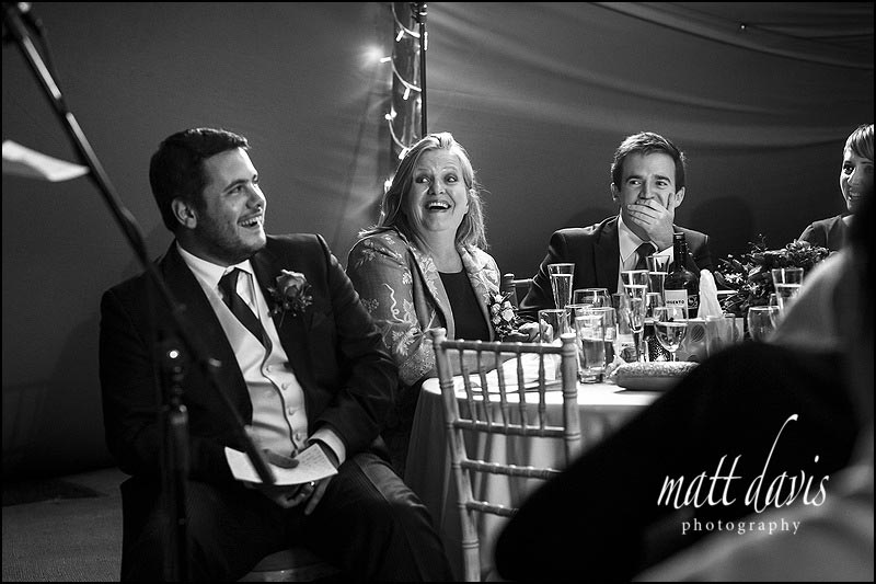 Black and white  documentary wedding photography by photographer Matt Davis