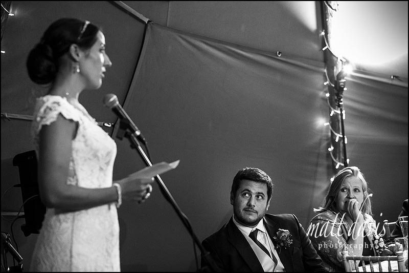 Wedding speeches taken in Black and white by documentary wedding photographer Matt Davis