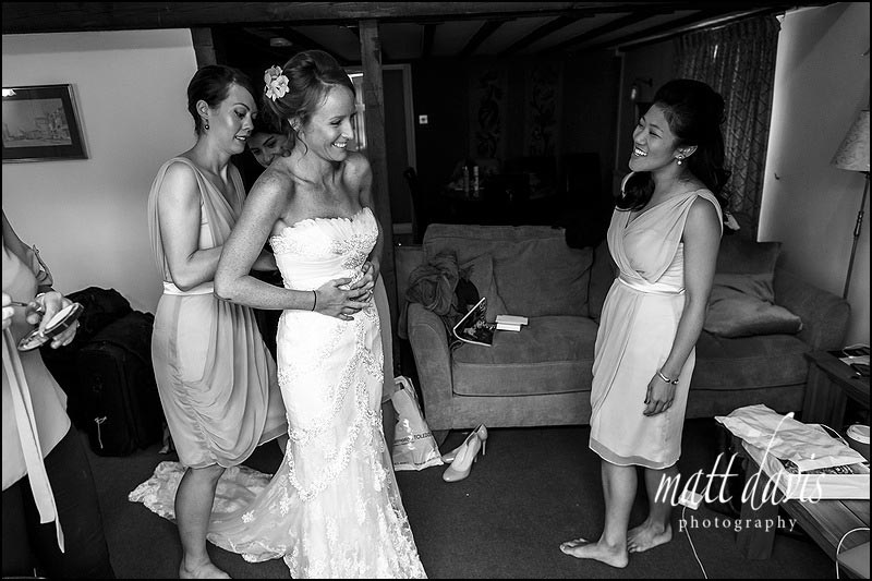 Black and White Documentary wedding photography at Sudeley Castle