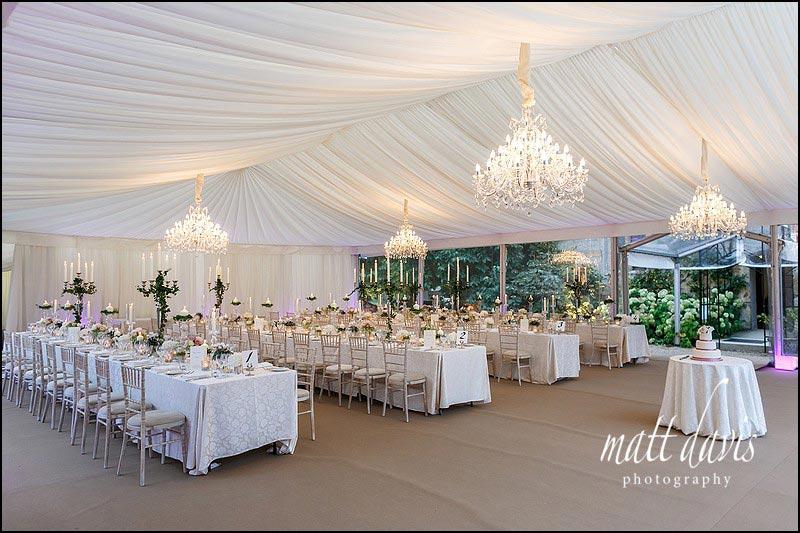 Sudeley Castle wedding marquee