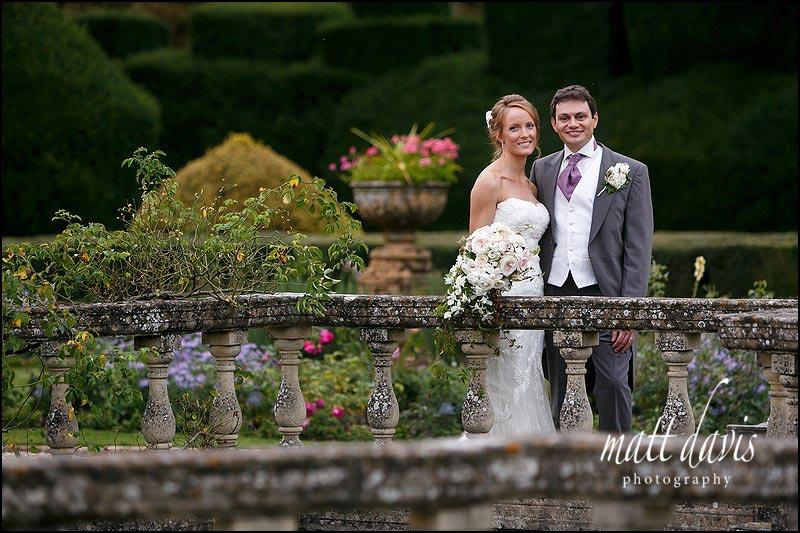 wedding photos in the Rose Garden at Sudeley Castle