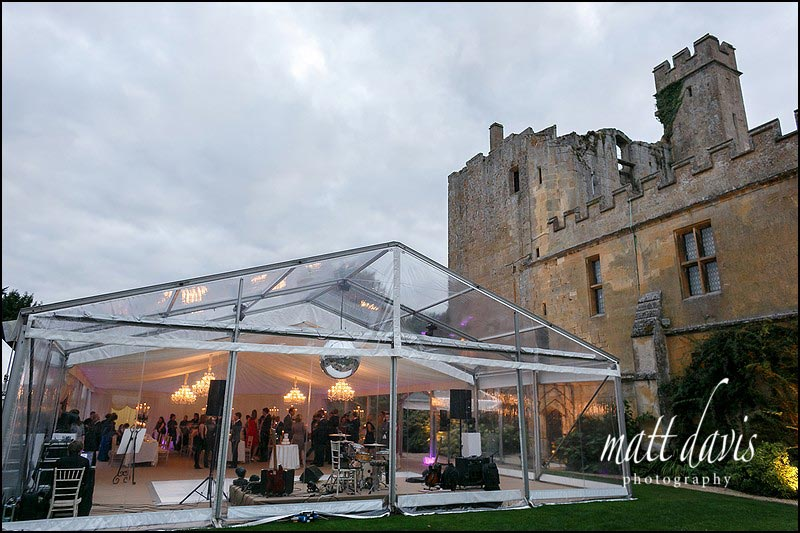 wedding marquee at Sudeley Castle