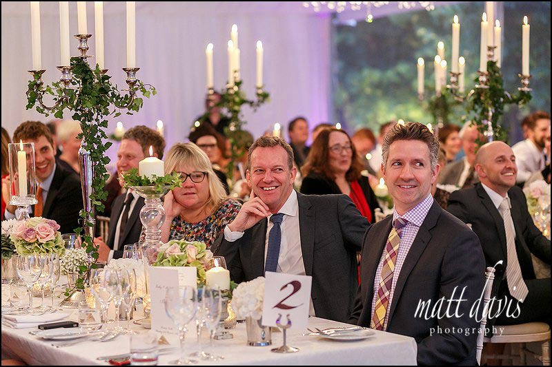 Sudeley Castle wedding photography during speeches