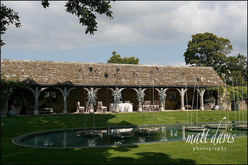 The outdoor wedding ceremony at Whatley Manor