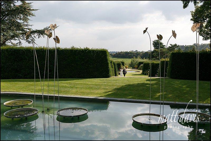 Outdoor wedding ceremony at Whatley Manor