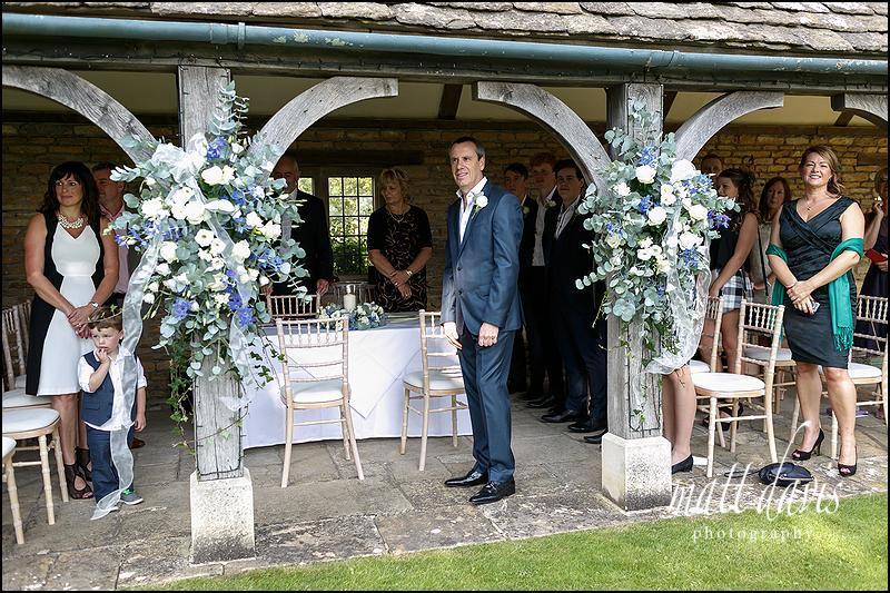 Whatley Manor wedding photos of outdoor ceremony