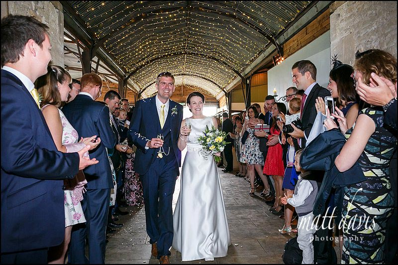 Confetti throwing at Cripps Stone Barn