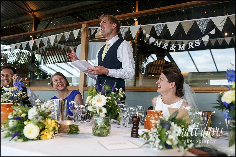 Wedding speeches at Cripps Stone Barn