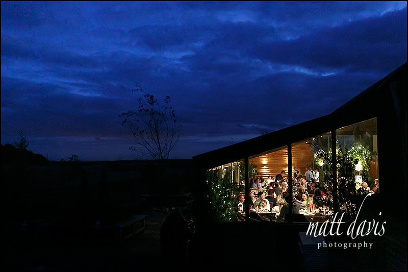 Amazing night time photo of Cripps Stone Barn wedding venue