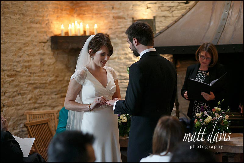Wedding ceremony photos at Cripps Stone Barn
