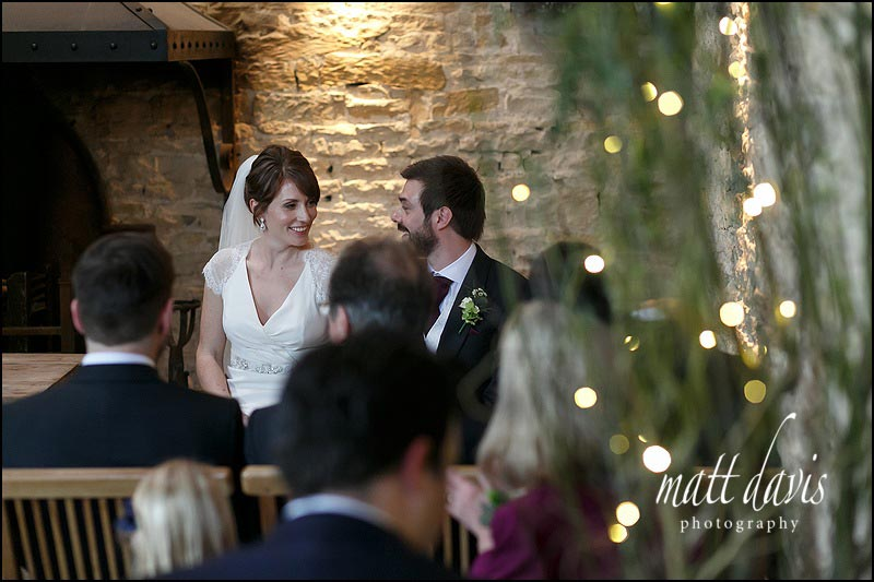 Wedding ceremony photography at Cripps Stone Barn