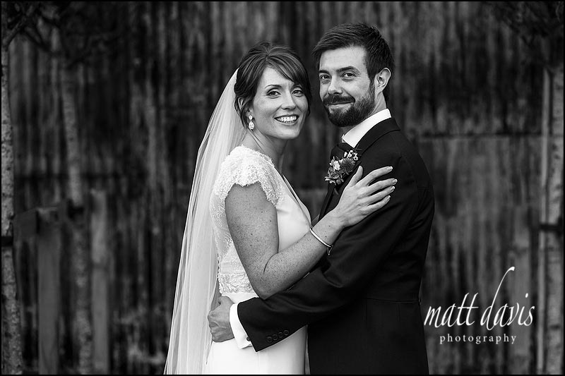 B&W wedding photos Cripps Stone Barn