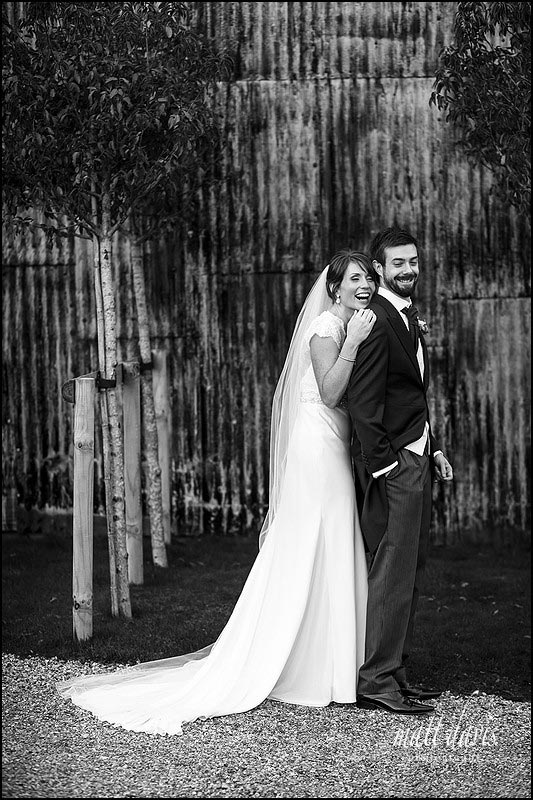Relaxed wedding photos at Cripps Stone Barn