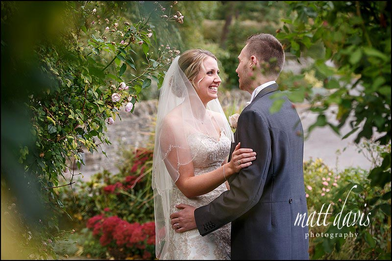 Autumnal wedding at Kingscote Barn - couple photos