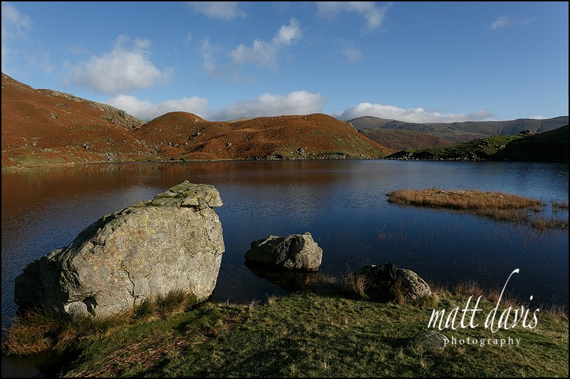 Easedale Tarn near Grasmere in the Lake District
