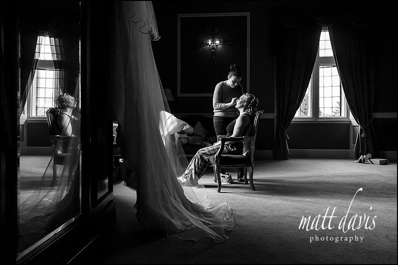 Weddings at Clearwell Castle with bridal preps held in the Castle.