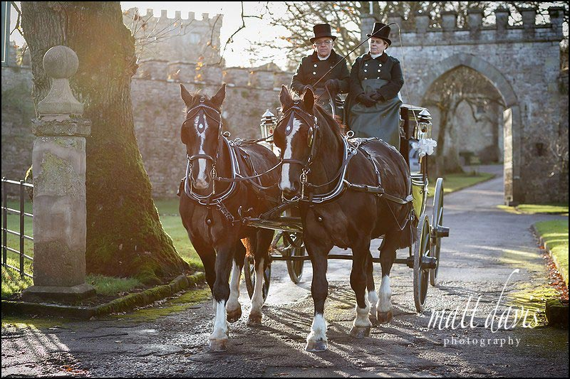 Horse and Carriage at Clearwell Castle weddings