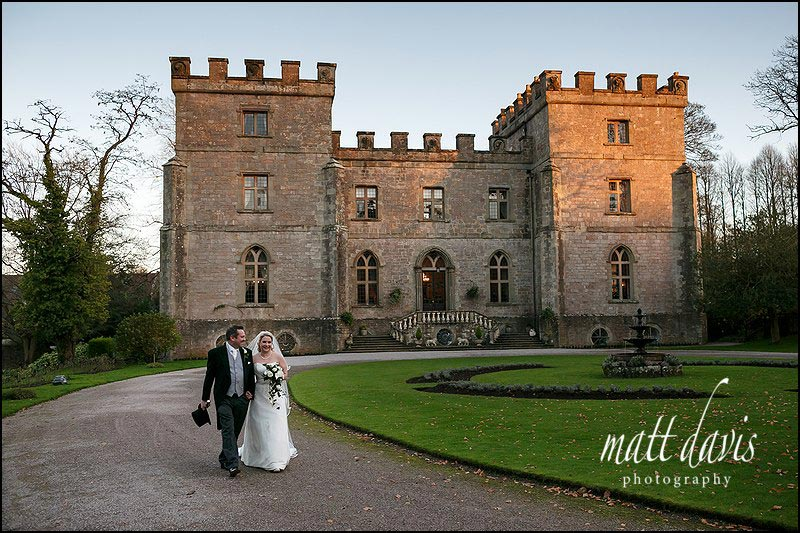 Weddings at Clearwell Castle in winter