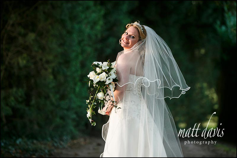 Bridal portrait from a Wedding at Clearwell Castle