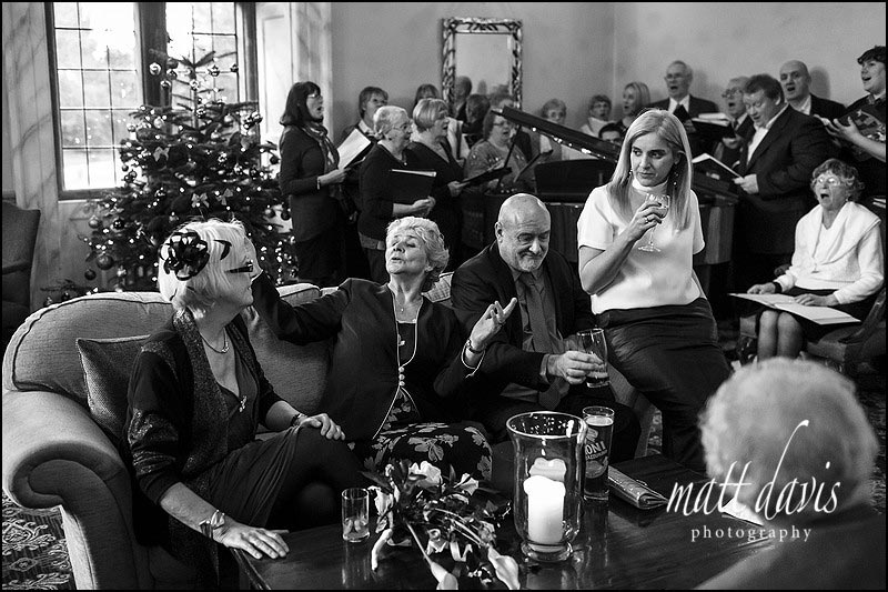 Documentary wedding photographer at Clearwell Castle, Gloucestershire