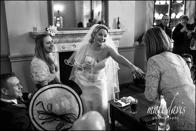 Documentary wedding photography at Clearwell Castle, Gloucestershire