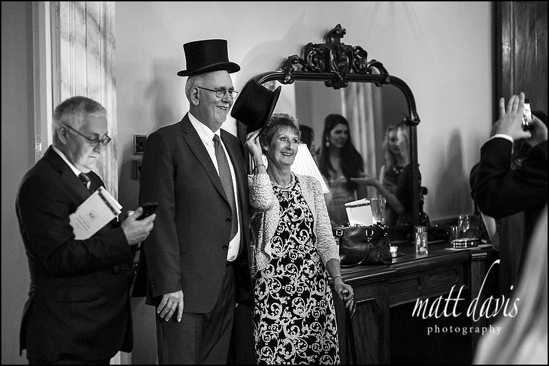 Documentary wedding photos at Clearwell Castle, Gloucestershire