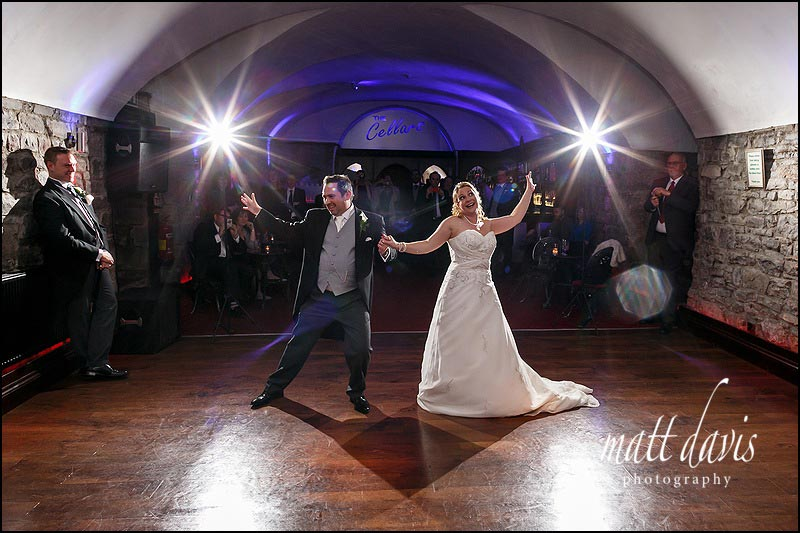 Great dance floor photo of weddings at Clearwell Castle