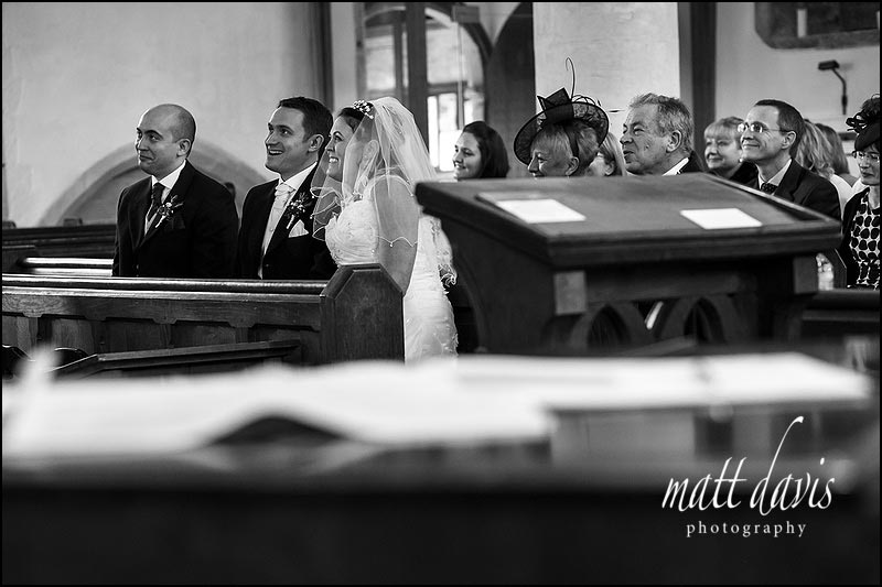 Indoor wedding photos Bibury church
