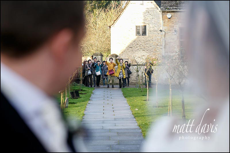 Documentary wedding photos, Bibury, Gloucestershire