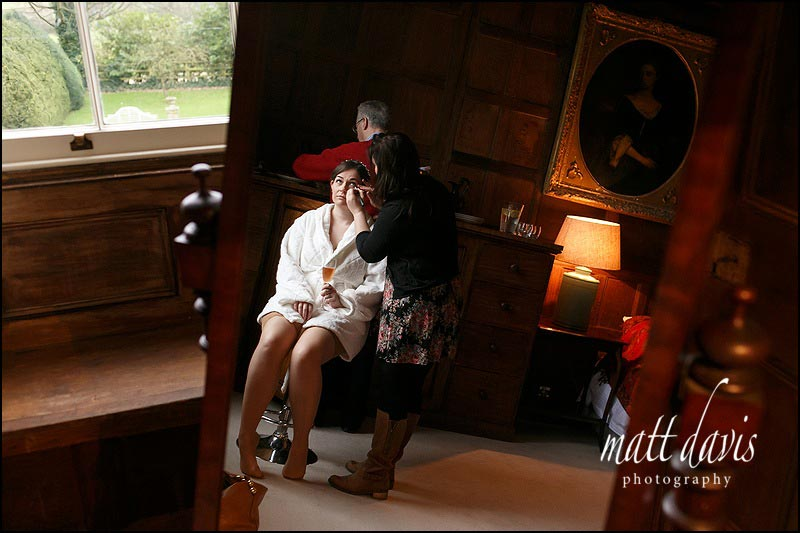 Wedding hair and make-up Elmore Court Gloucestershire