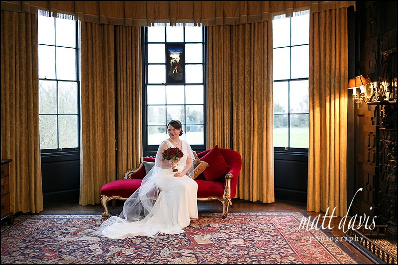 Stunning bridal wedding photo taken at Elmore Court Gloucestershire.