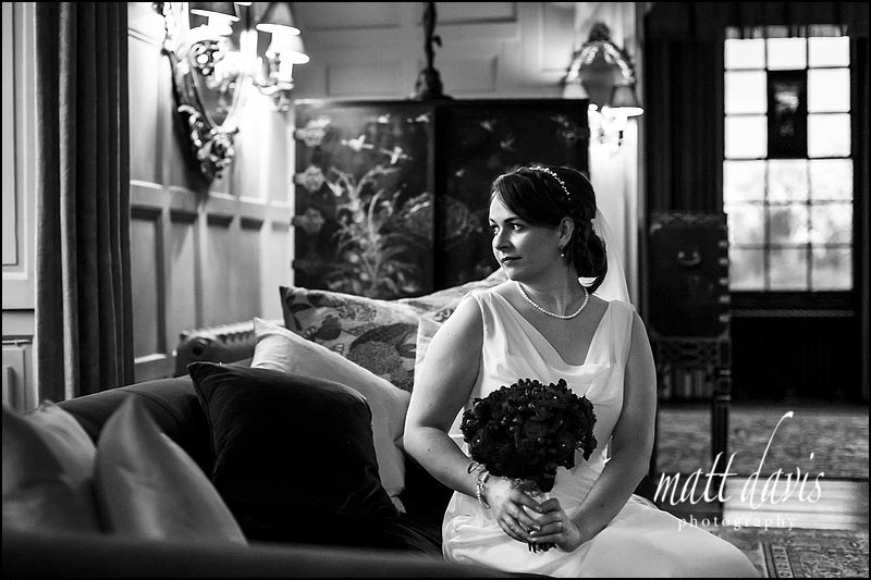 Black and white wedding photos Elmore Court