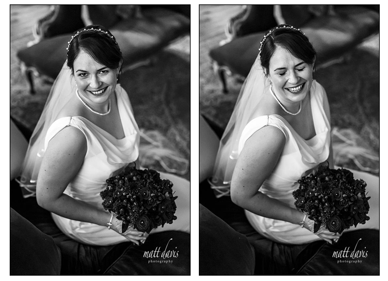 Black and white wedding photography Elmore Court