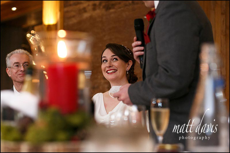wedding speeches at Elmore Court