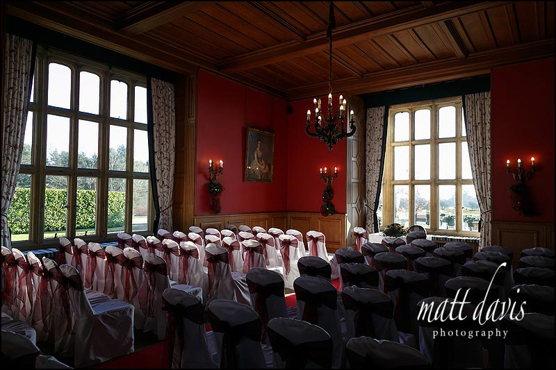 Civil ceremony wedding at Eynsham Hall