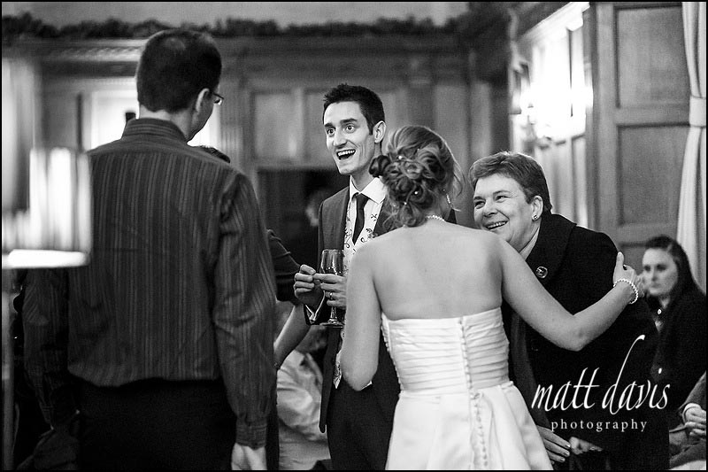 Drinks reception at a wedding at Eynsham Hall