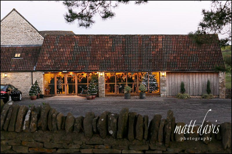Kingscote Barn winter wedding venue Gloucestershire