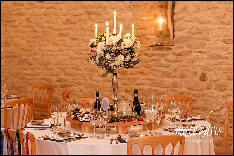 Candle arbours at Kingscote Barn