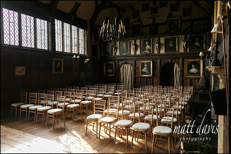 Inside Dorney Court set ready for the wedding ceremony