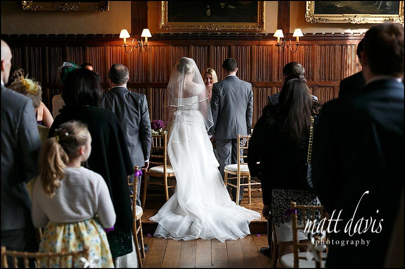 civil wedding ceremony at Dorney Court