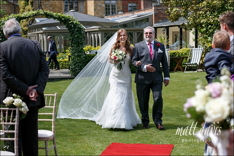 Outdoor wedding at Manor House Hotel Moreton-In-Marsh