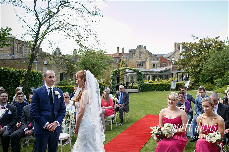 Outdoor civil ceremony at Manor House Hotel Moreton-In-Marsh