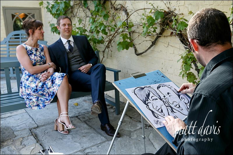 Wedding caricaturist Gloucestershire